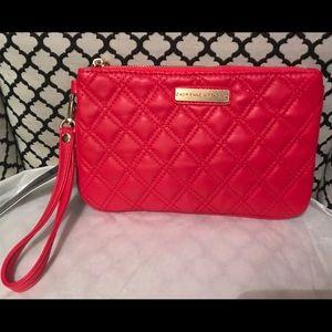 Adrienne Vittadini Designer Top Zip Red Wristlet